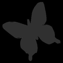 Silhueta de voar de borboleta simétrica