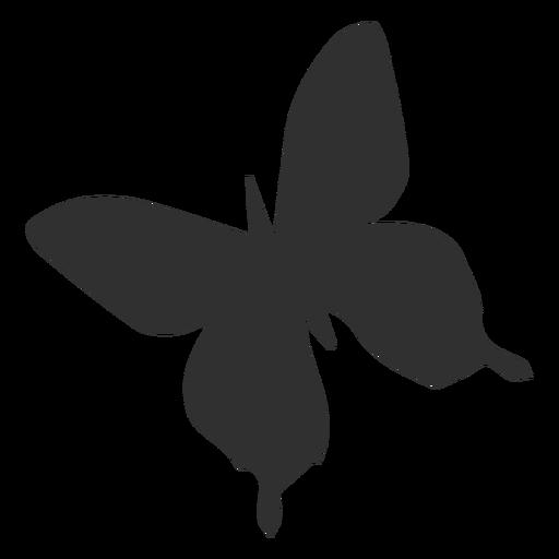 Silhueta de voar de borboleta simétrica Transparent PNG