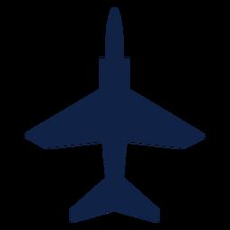 Silueta de vista superior de avión T 45