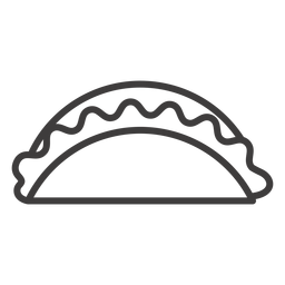 Icono de golpe de comida de taco