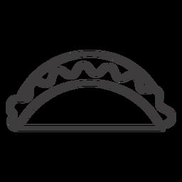 Icono de trazo de comida de taco