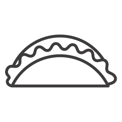 Taco food stroke icon Transparent PNG