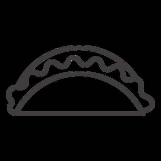 Taco food stroke icon