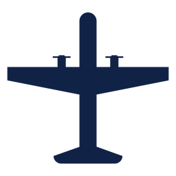 Tactical airplane top view silhouette