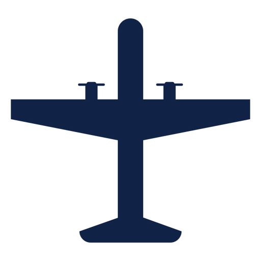 Tactical airplane top view silhouette Transparent PNG