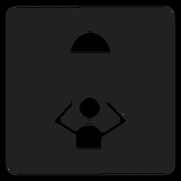Tomando um ícone quadrado de chuveiro