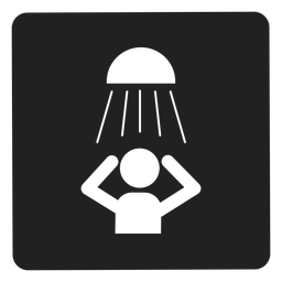 Tomando un icono cuadrado de ducha