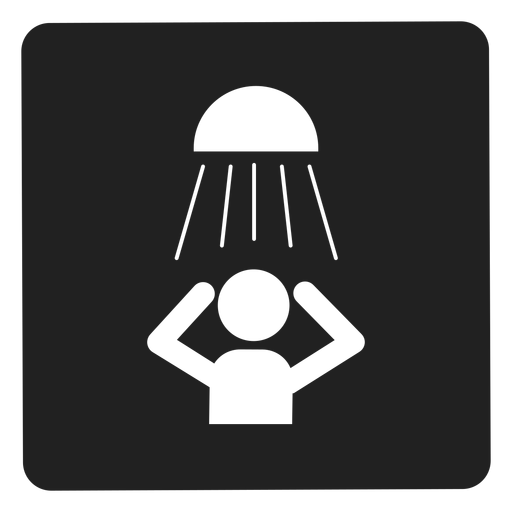 Taking a shower square icon Transparent PNG