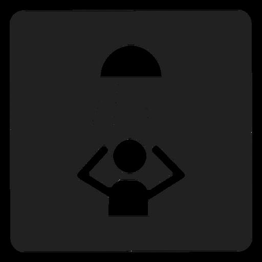 Tomando un icono cuadrado de ducha Transparent PNG
