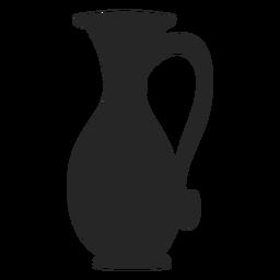 Ícone plana de jarro alto