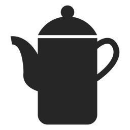 Ícone plana de bule de chá