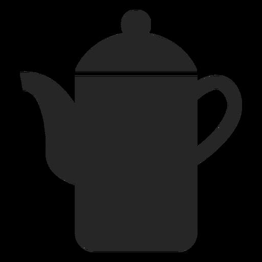 Icono plano de tetera alta