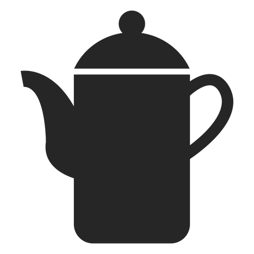 Tall teapot flat icon Transparent PNG