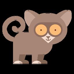 Ilustración de primate Tarsier