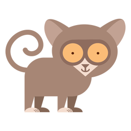 Tarsier primate illustration
