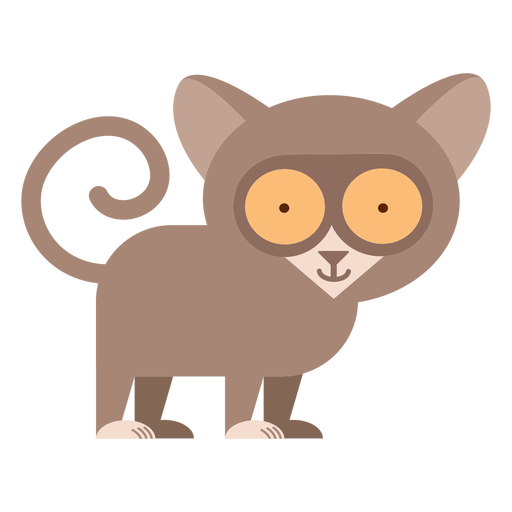 Tarsier primate illustration Transparent PNG