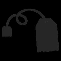 Icono plano de bolsa de té