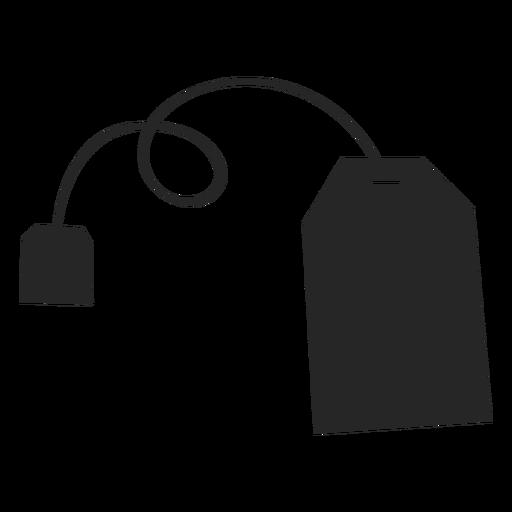 Ícone plana de saco de chá Transparent PNG