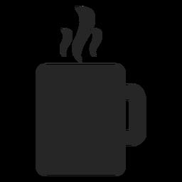 Icono plano de la taza de té