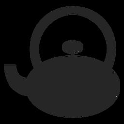 Teekanne flach Symbol