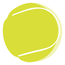 Icono de pelota de tenis elementos de tenis