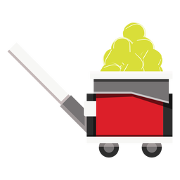 Tennis ball machine icon
