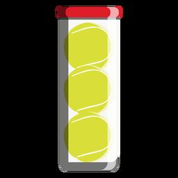 Icono de tubo de pelota de tenis