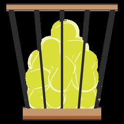 Ícone de cesta de bolas de tênis