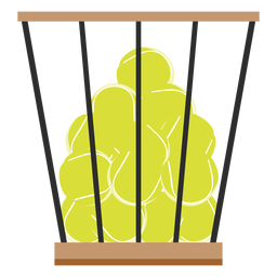 Tennis balls basket icon