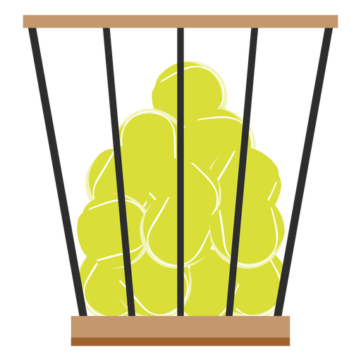Icono de canasta de pelotas de tenis