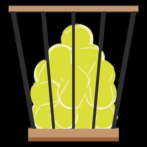Icono de cesta de pelotas de tenis Transparent PNG