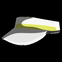 Icono de visera de partido de tenis