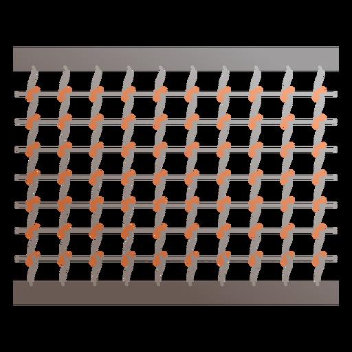 Icono de red de tenis Transparent PNG