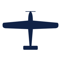 Texan airplane top view silhouette