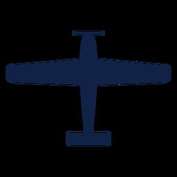 Vista superior de avión texano silueta