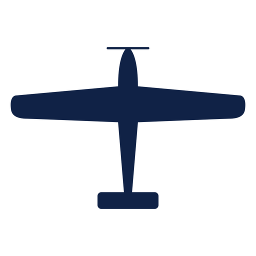Texan airplane top view silhouette Transparent PNG