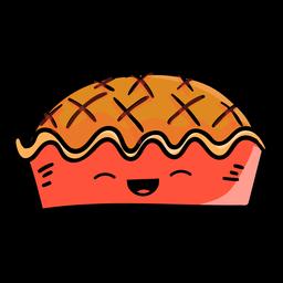Ícone de desenho animado de torta de ação de Graças
