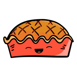Icono de dibujos animados de tarta de acción de gracias