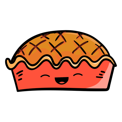 Icono de dibujos animados de tarta de acción de gracias Transparent PNG