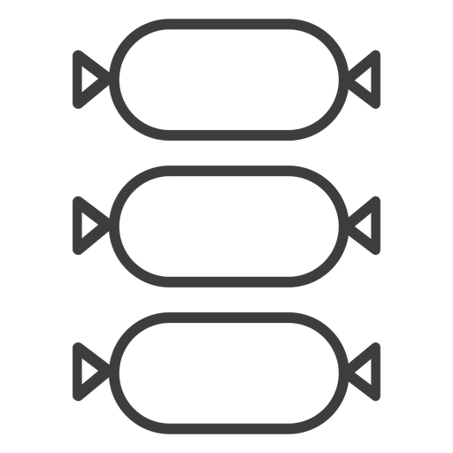Three salami stroke icon Transparent PNG