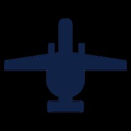 Silueta de vista superior de avión de rayo