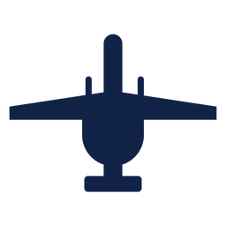 Thunderbolt airplane top view silhouette