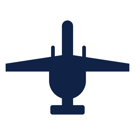 Thunderbolt airplane top view silhouette Transparent PNG