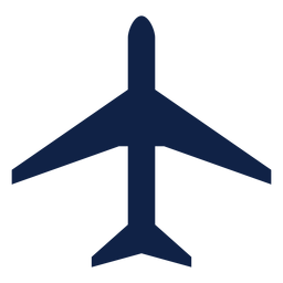 Silueta de vista superior de avión de trueno