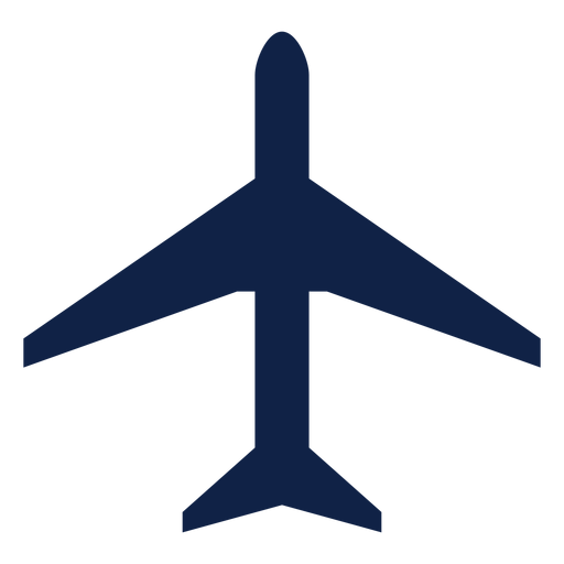 Silueta de vista superior de avión de trueno Transparent PNG