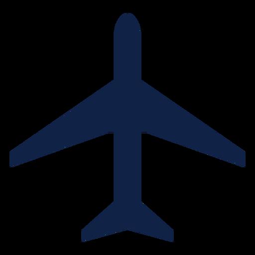 Thunderstreak airplane top view silhouette