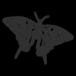 Silhueta de borboleta rabo de andorinha tigre