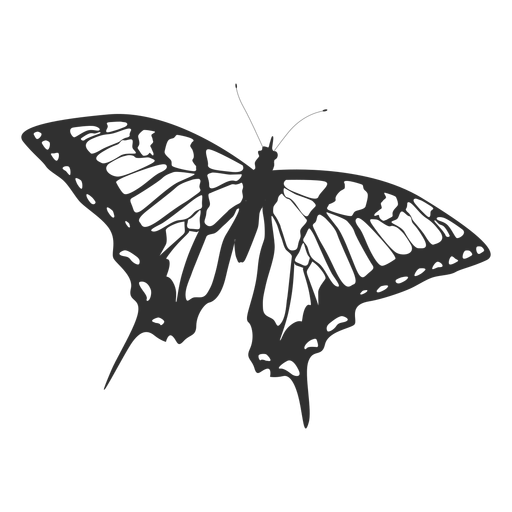 Tiger swallowtail butterfly silhouette Transparent PNG