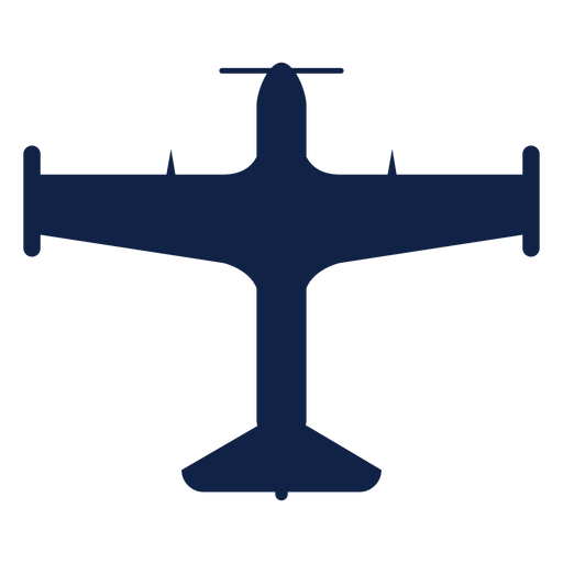 Trainer airplane top view silhouette Transparent PNG