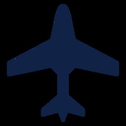 Silhueta de vista superior de aeronaves de transporte